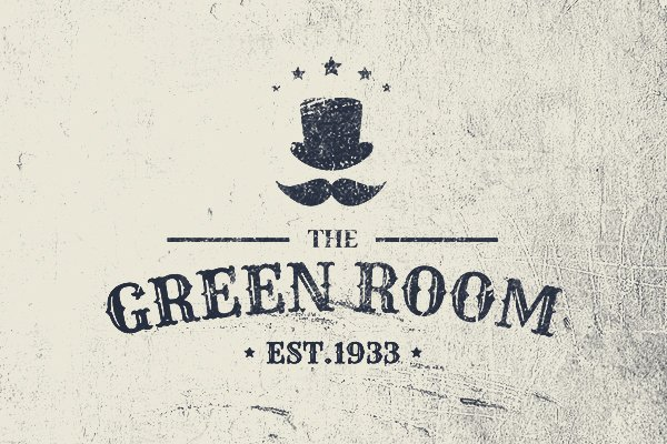 green room logo design